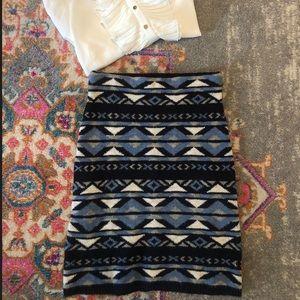 Sweater Pencil Skirt 00 Highwaisted